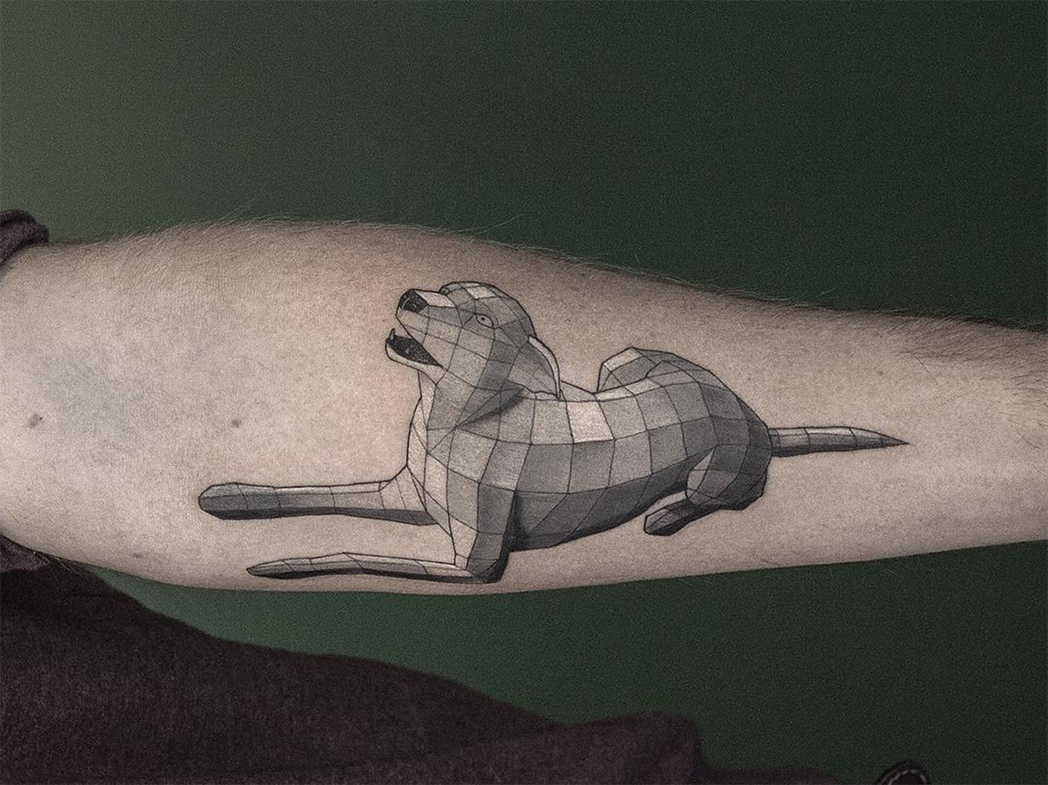 3d dog tattoo