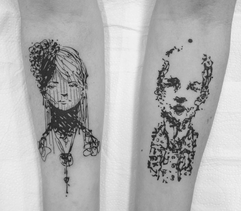 atic line portraits by guga scharf