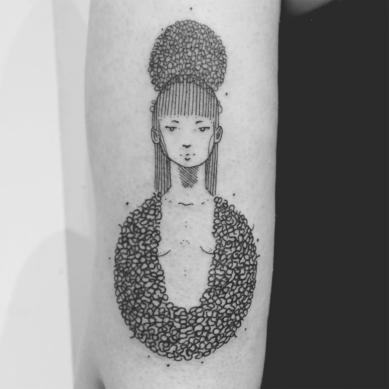 geisha style, inework tattoo by guga scharf