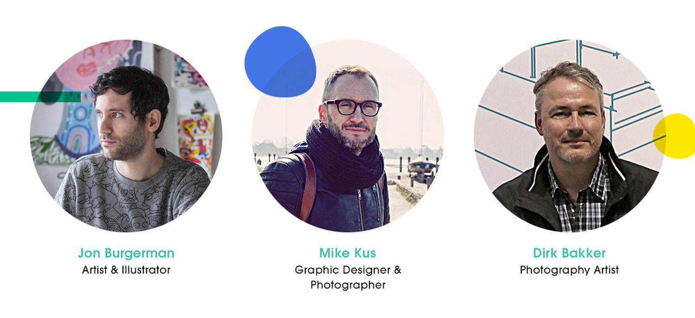 the judges: jon burgerman, mike kus and dirk bakker