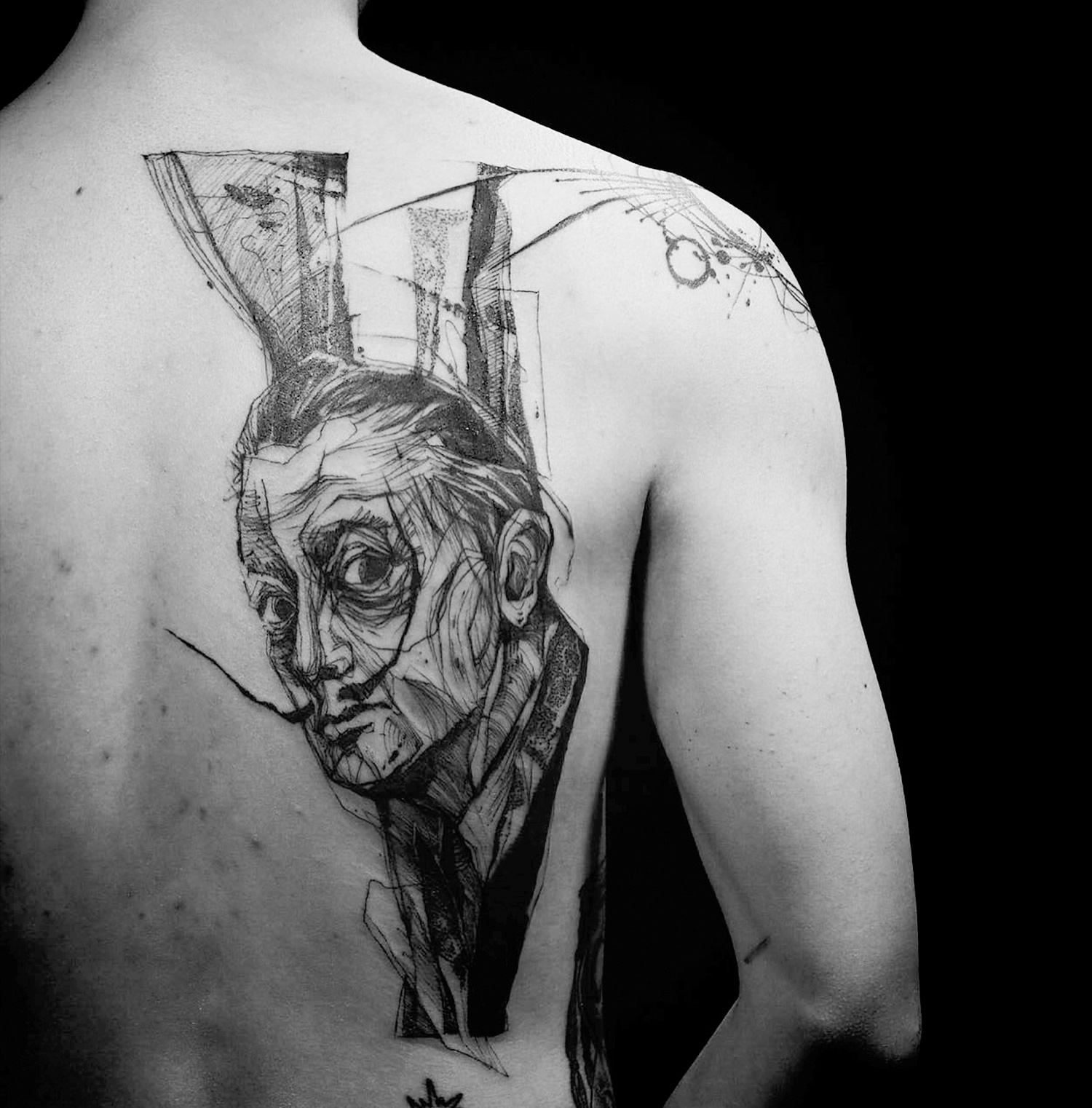 10 Artists Creating Powerful Tattoos Using Only Lines Scene360