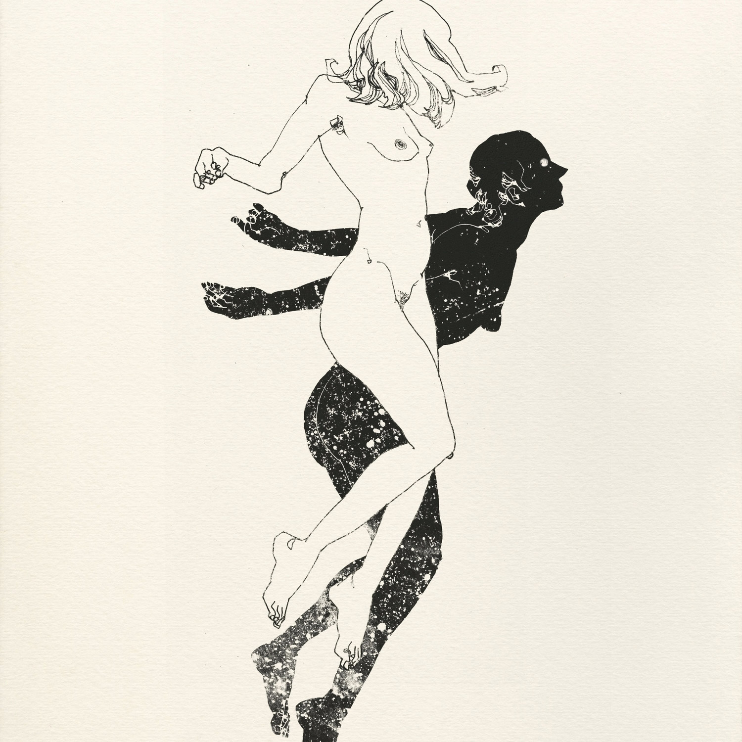 Lu Cong, illustration - woman and shadow