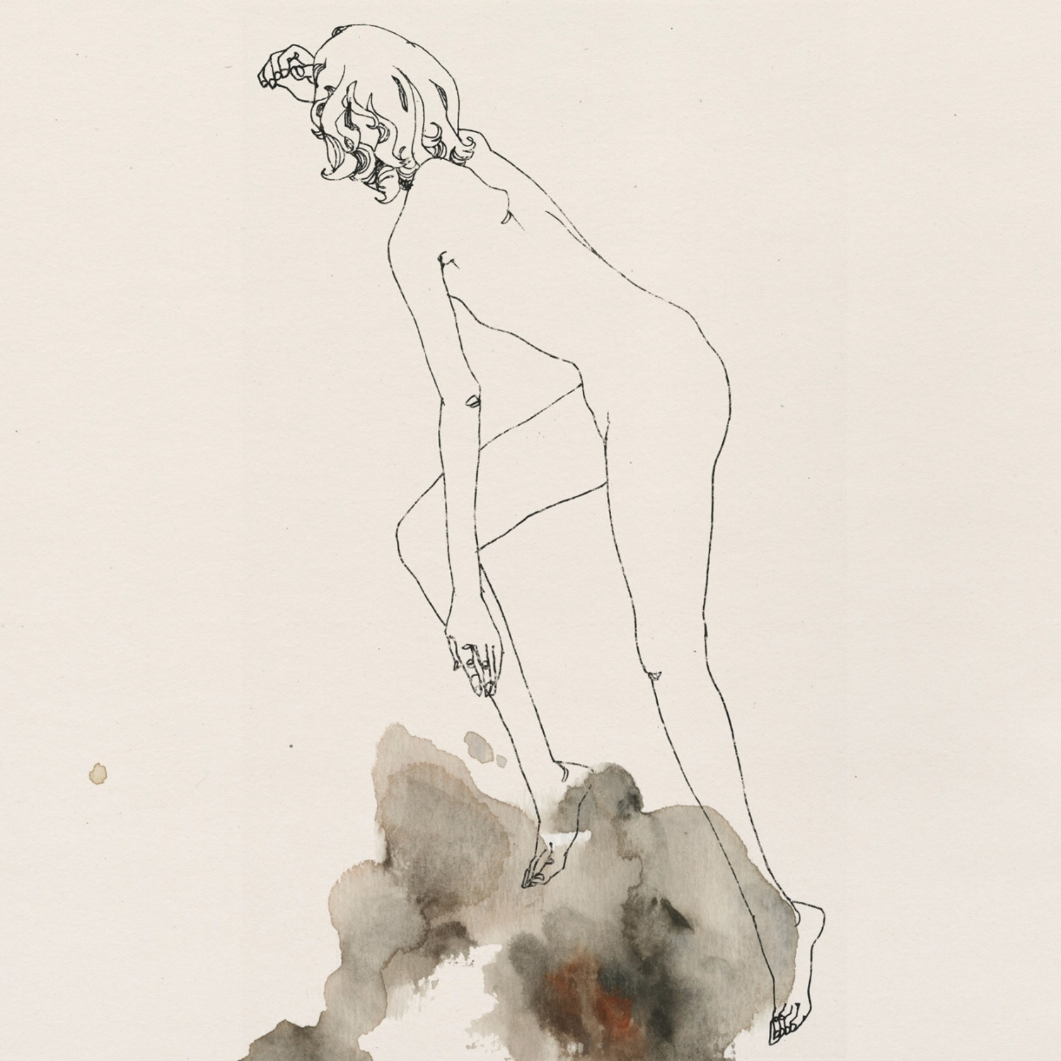 Lu Cong, illustration - woman climbing