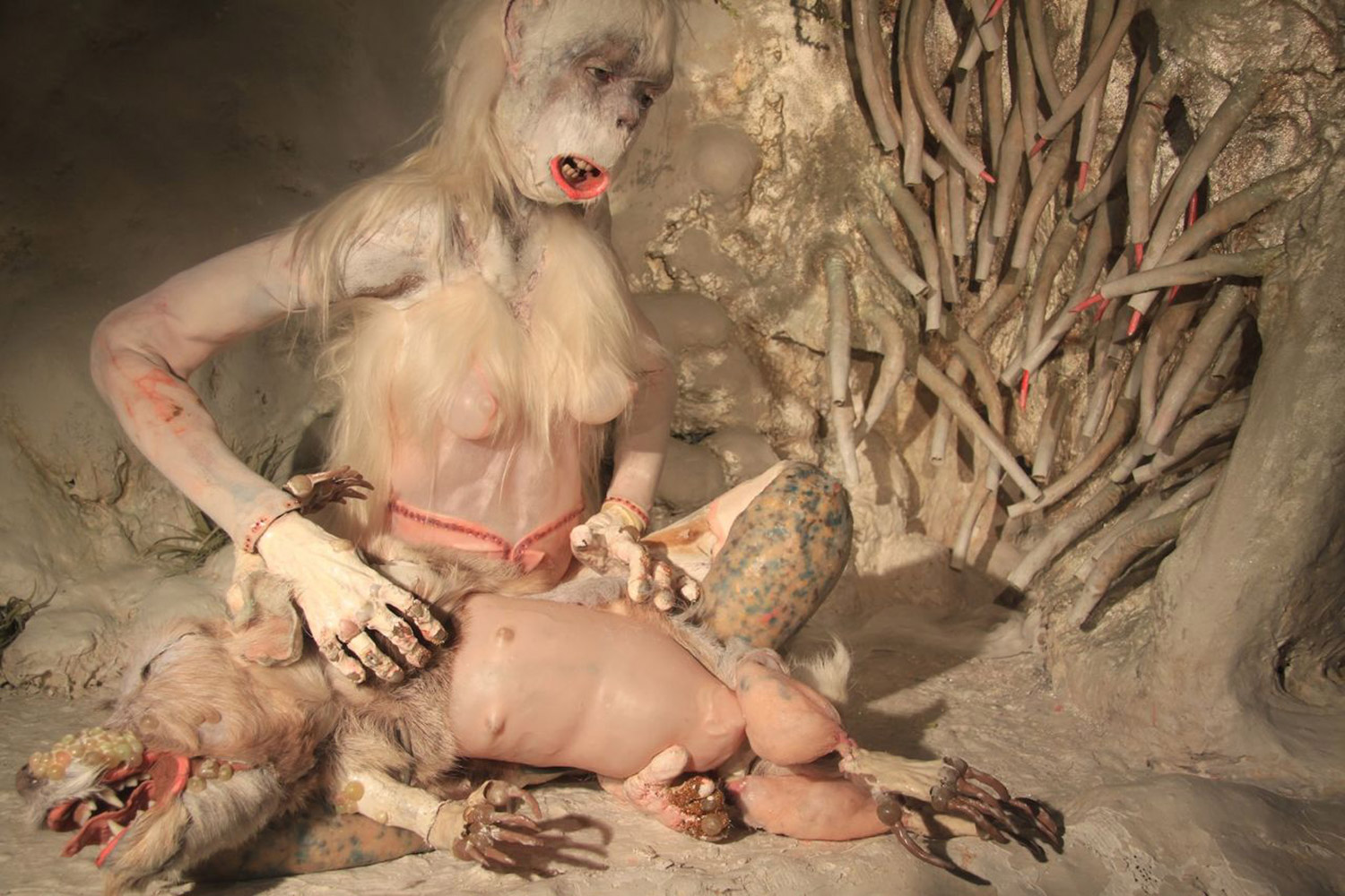 Morbid Creations - Monica Cook, ape with dog