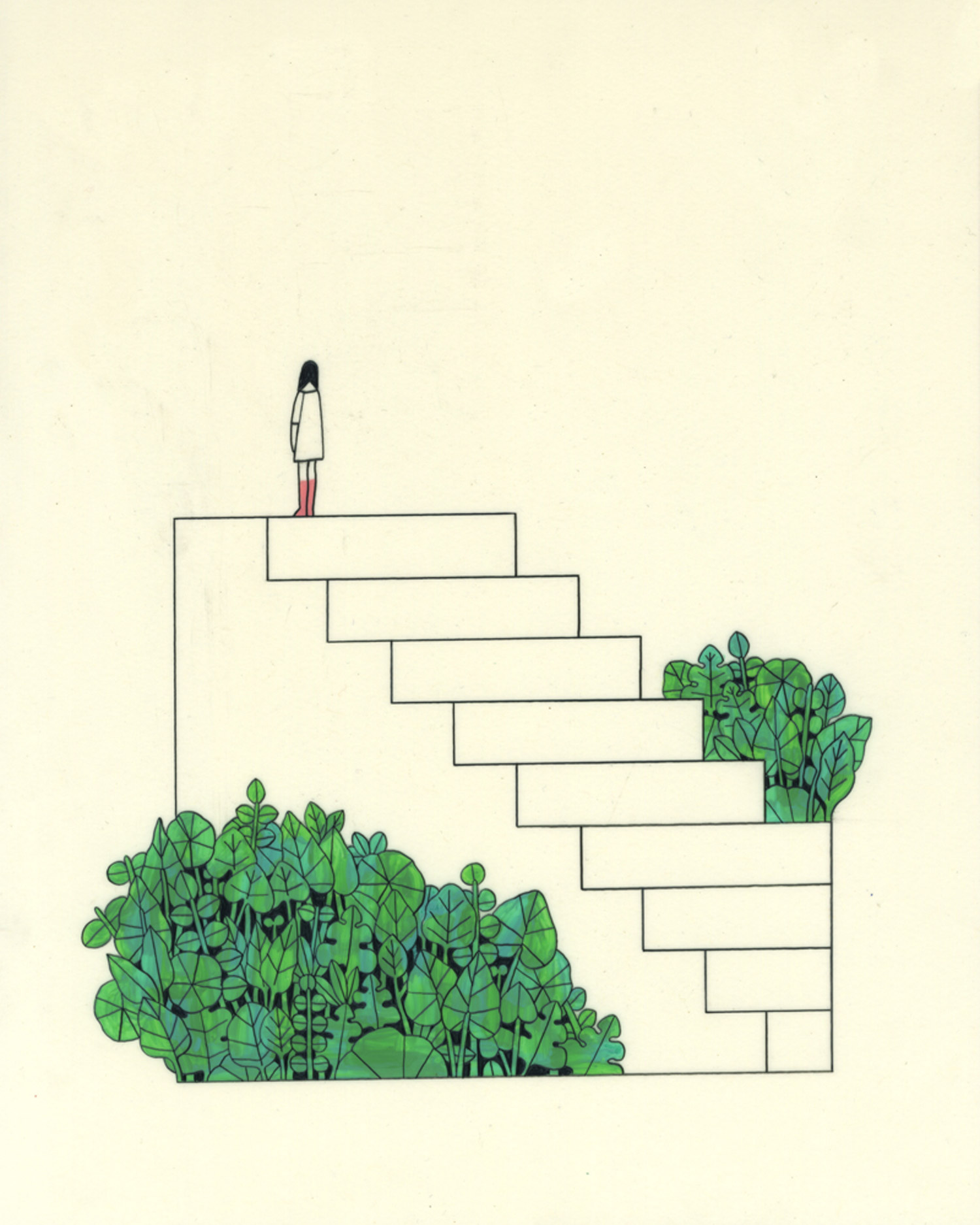 Steps that lead to nowhere by Rose Wong