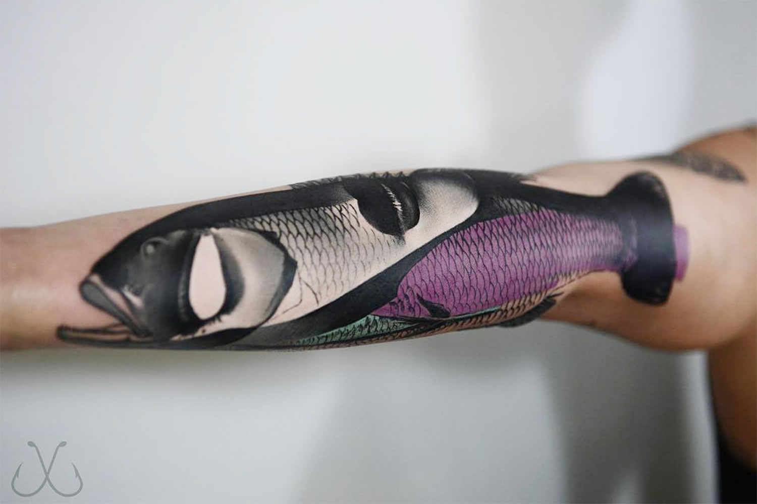 modern fish, hybrid, tattoo