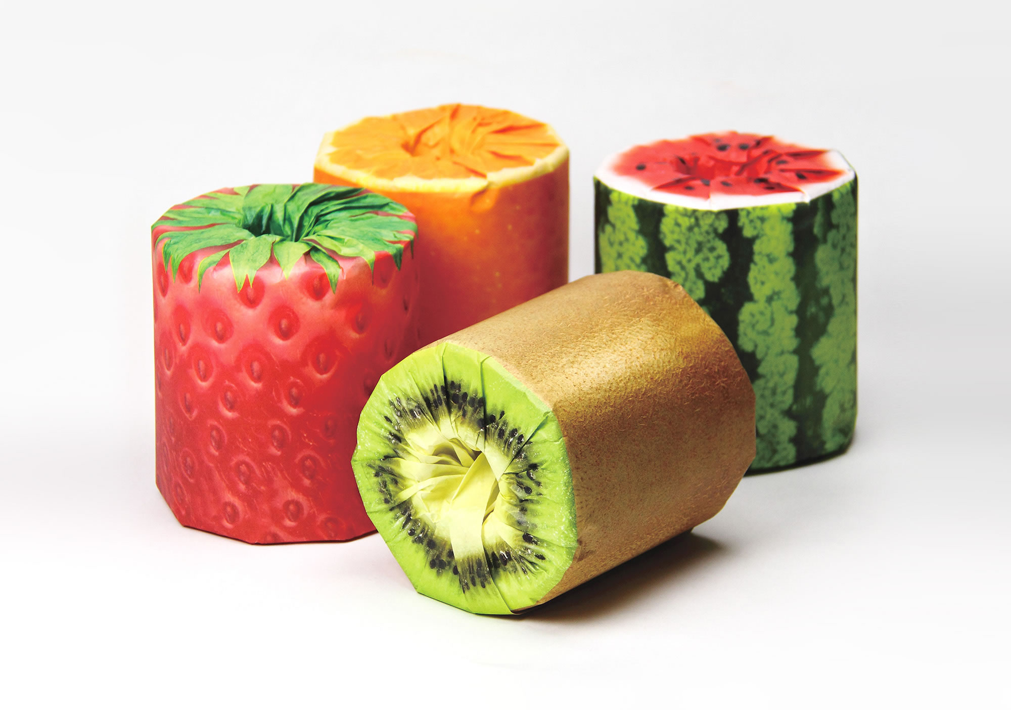 The Fruits Toilet Paper Packaging by Kazuaki Kawahara