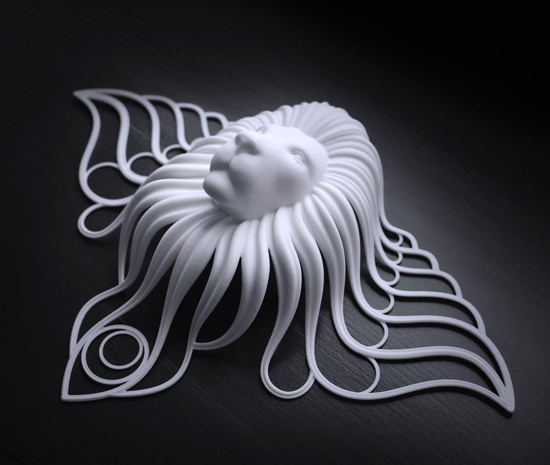 3d printing, Moon Lion by Jaroslav Kocourek