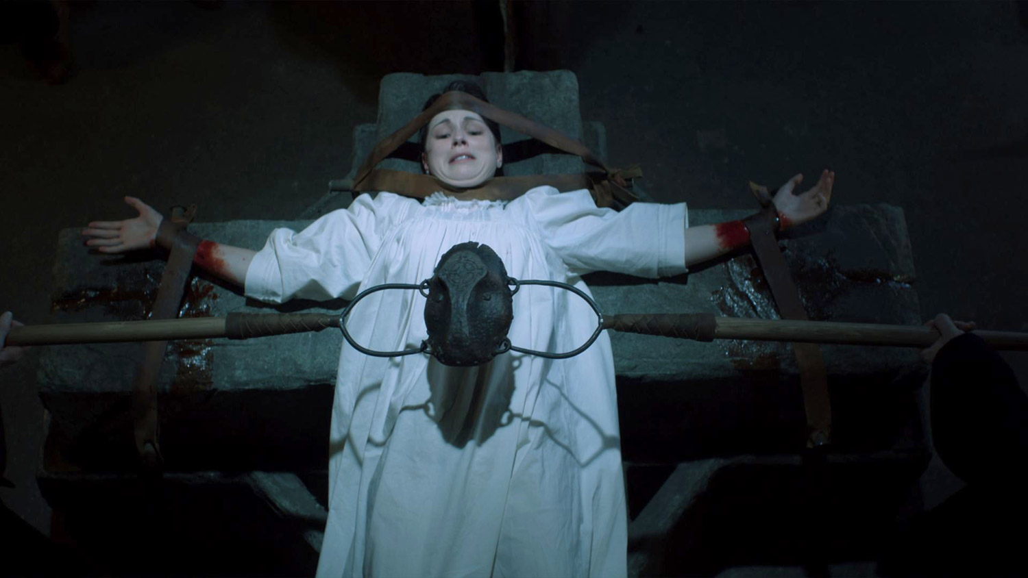 Canadian Horror Films - The Shrine, Sara on ceremonial table