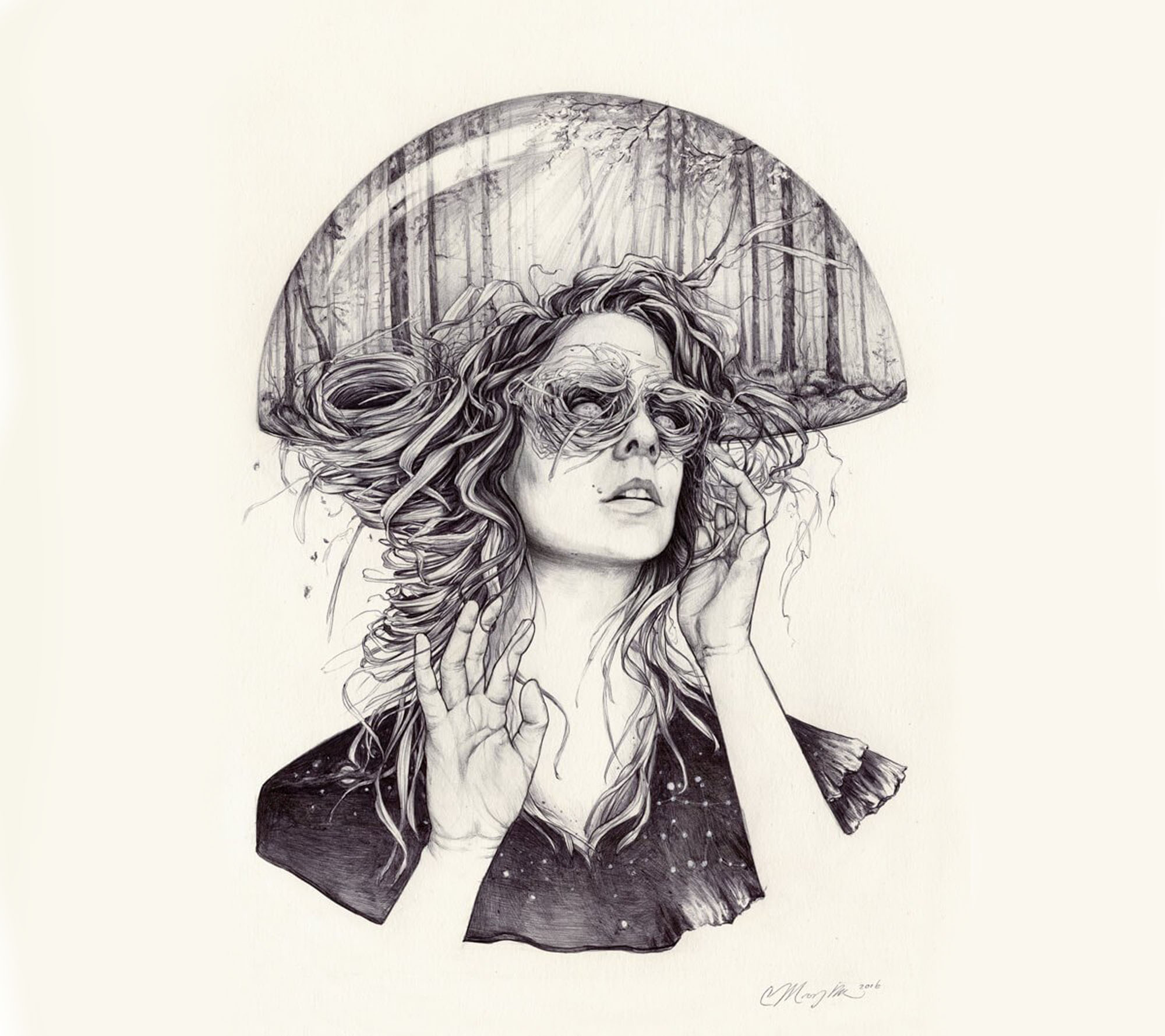 surreal portrait by christina mrozik