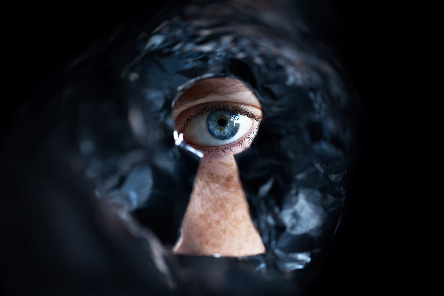 keyhole, eye, photography