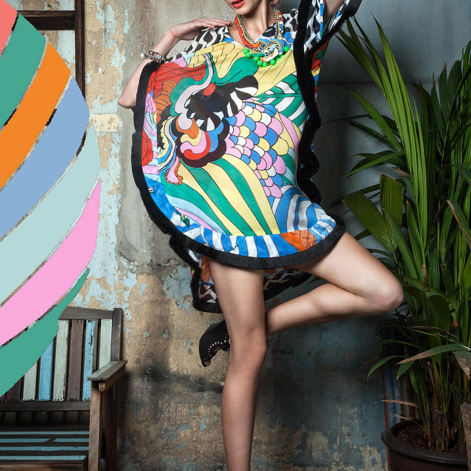 psychedelic frock by celiab