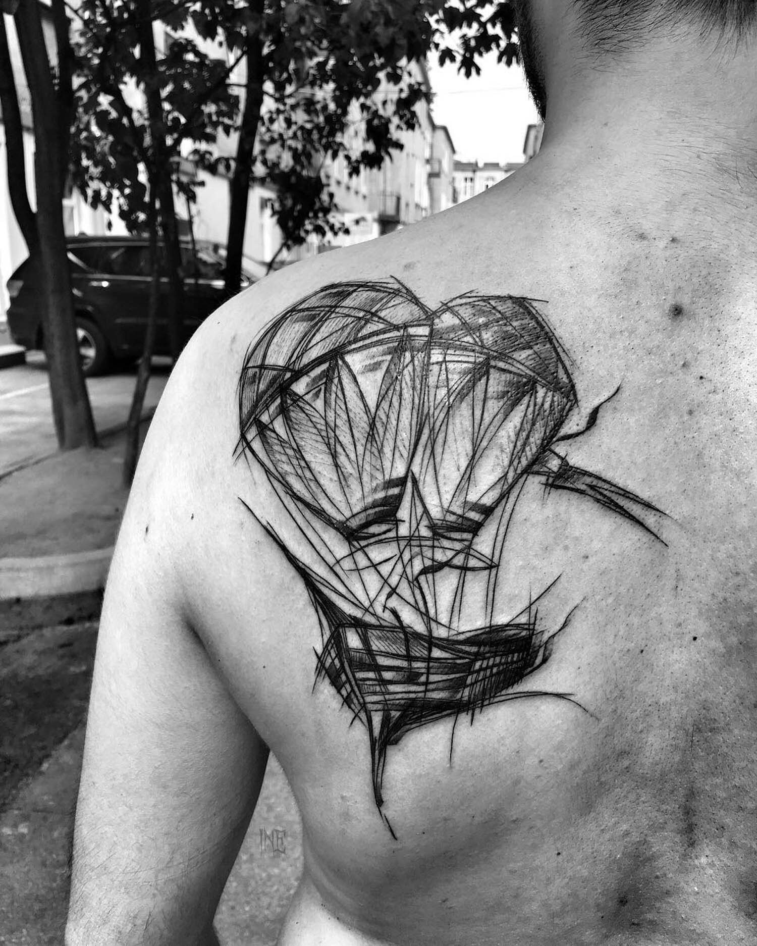 air balloon tattoo by inez janiak