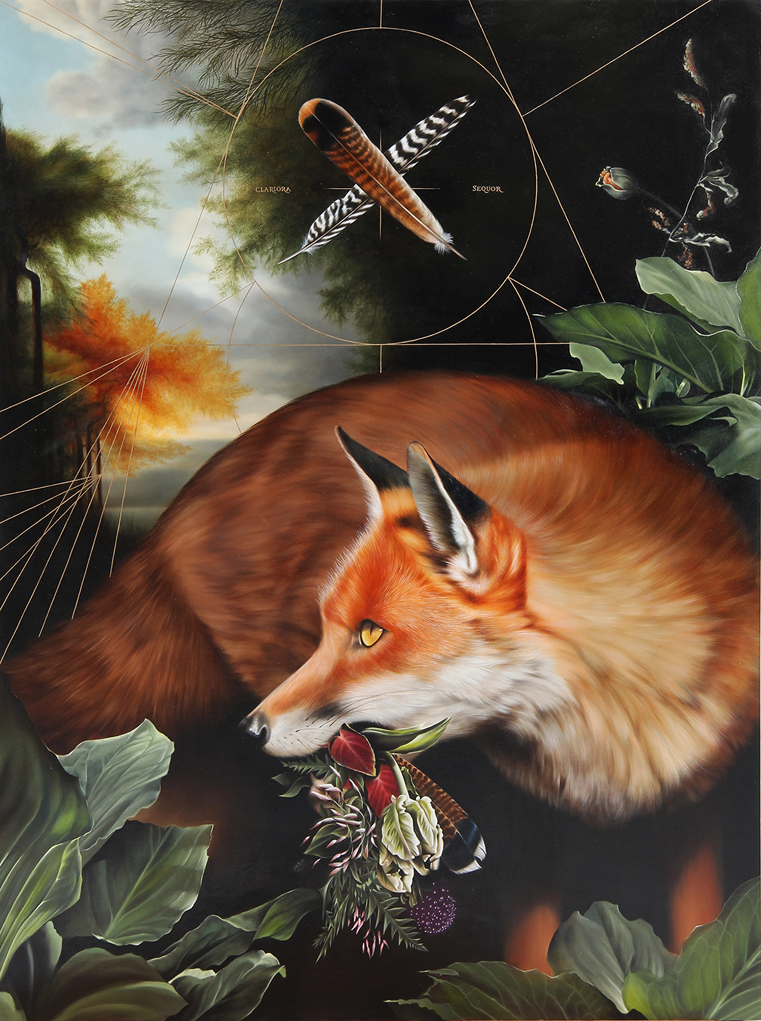 Josie Morway - fox and feathers
