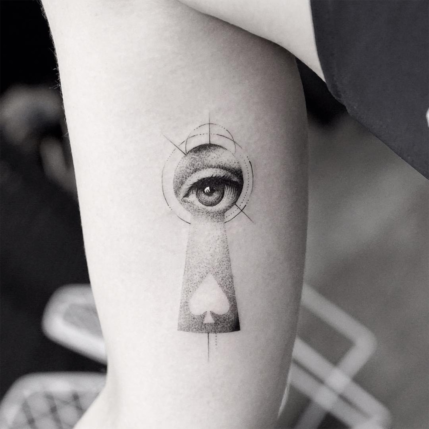 keyhole eye tattoo by mr k