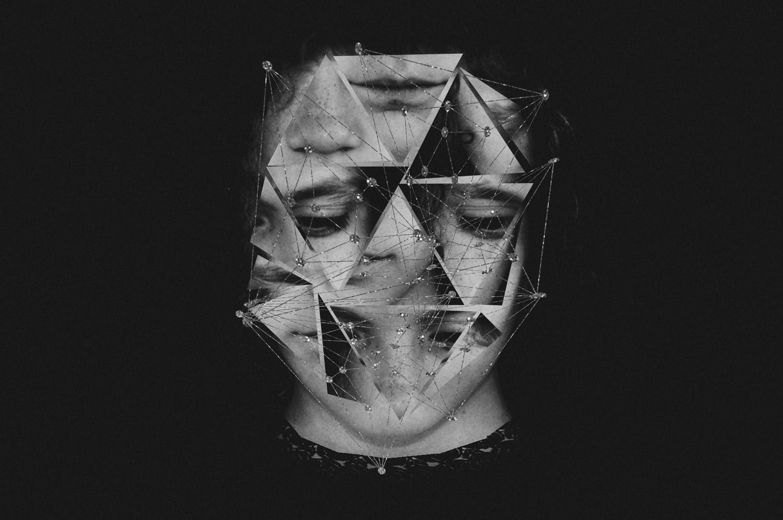 Nadia Maria - geometric face