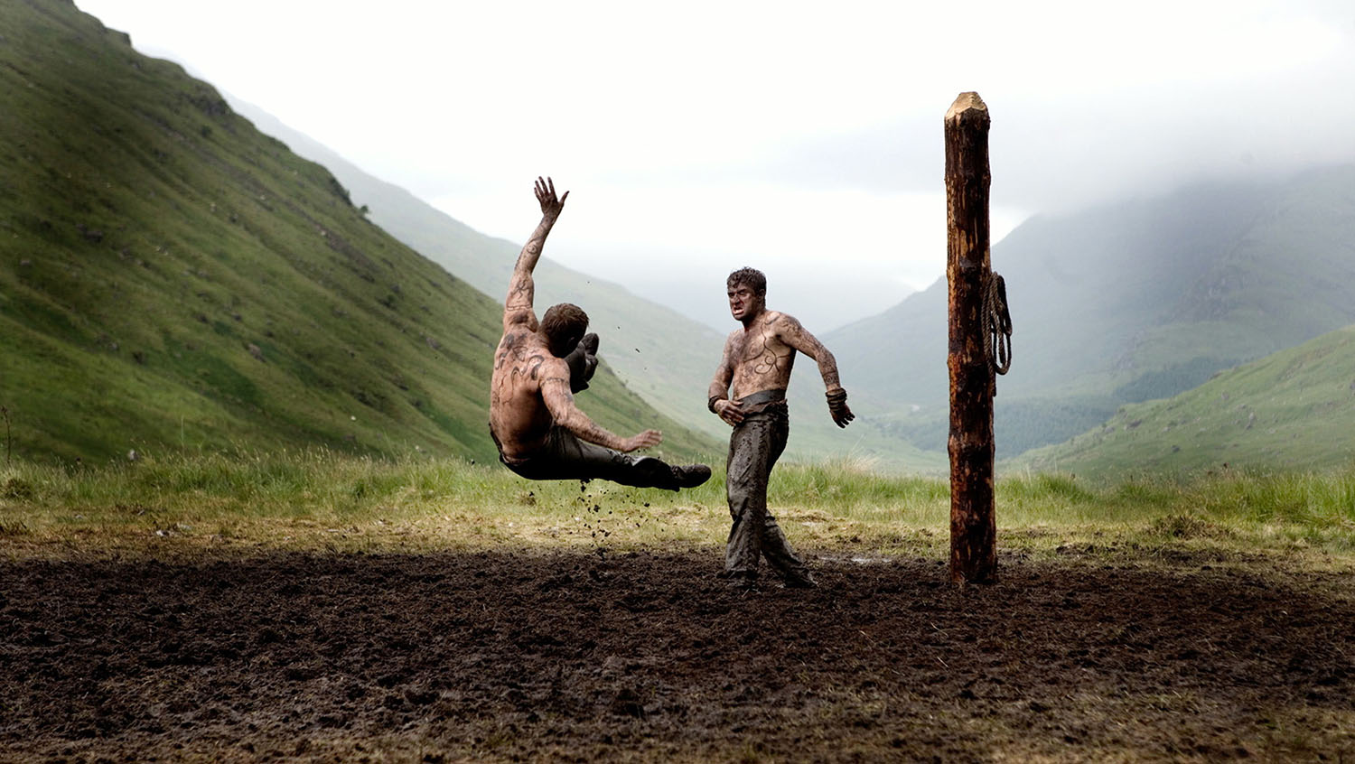 fight scene in valhalla rising,