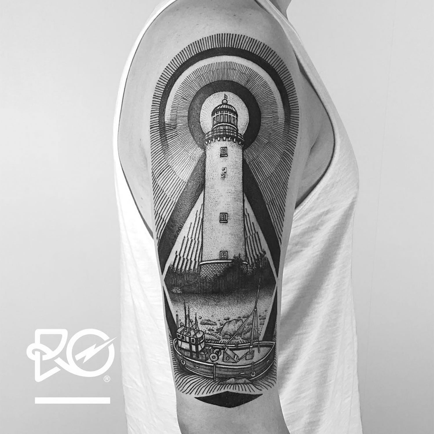 lighthouse tattoo sleeve