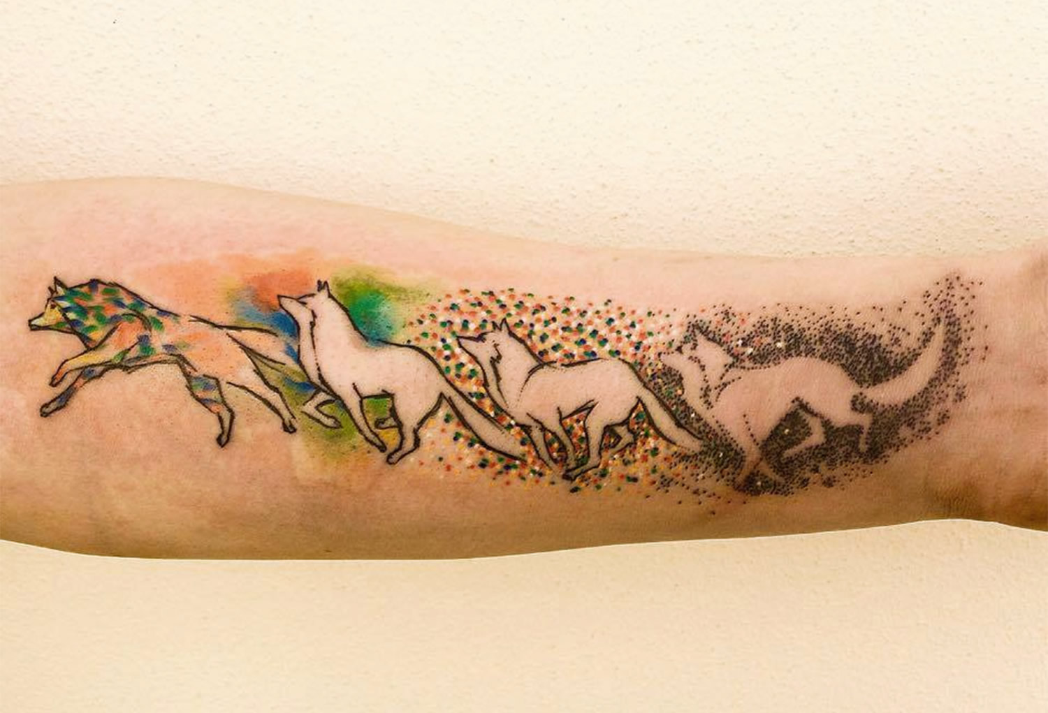 running wolf, animation tattoo by ondrash