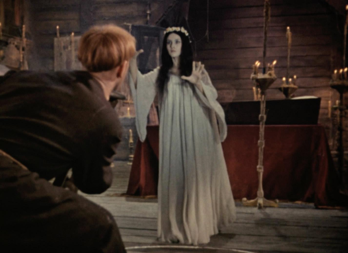 gothic looking scene in Вий, viy (1967)