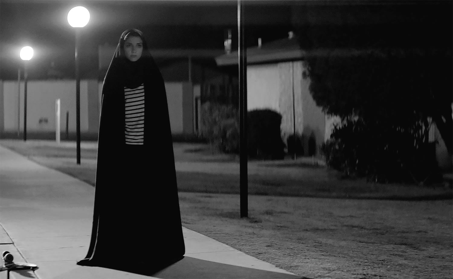 woman walking down street, A Girl Walks Home Alone At Night