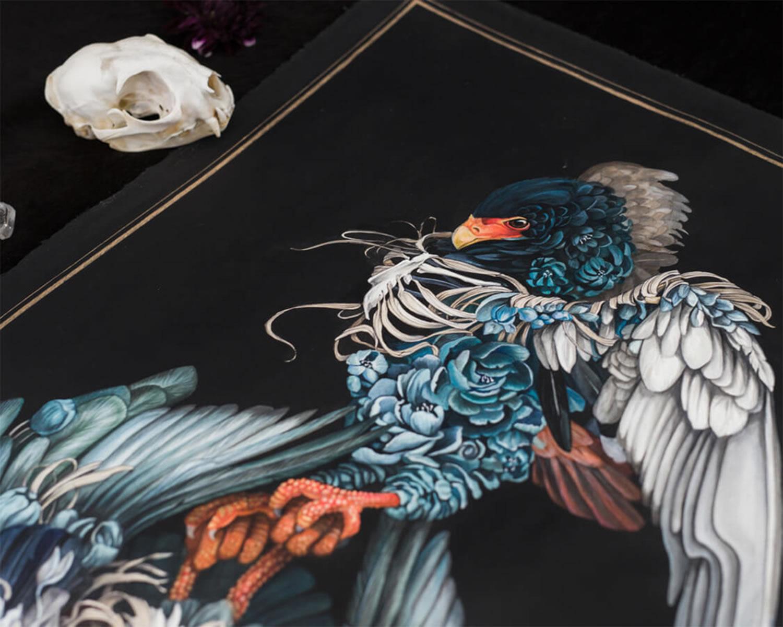bird painting, wip