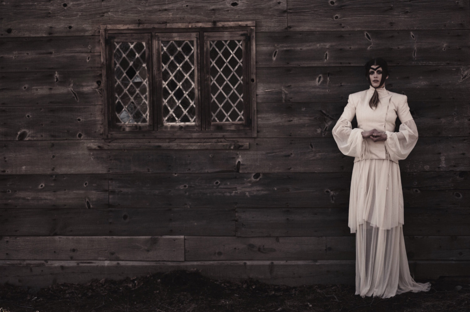 Hogan Mclaughlin - Upon the Heath of Bedlam, photographer Bill Crisafi, standing woman in white dress
