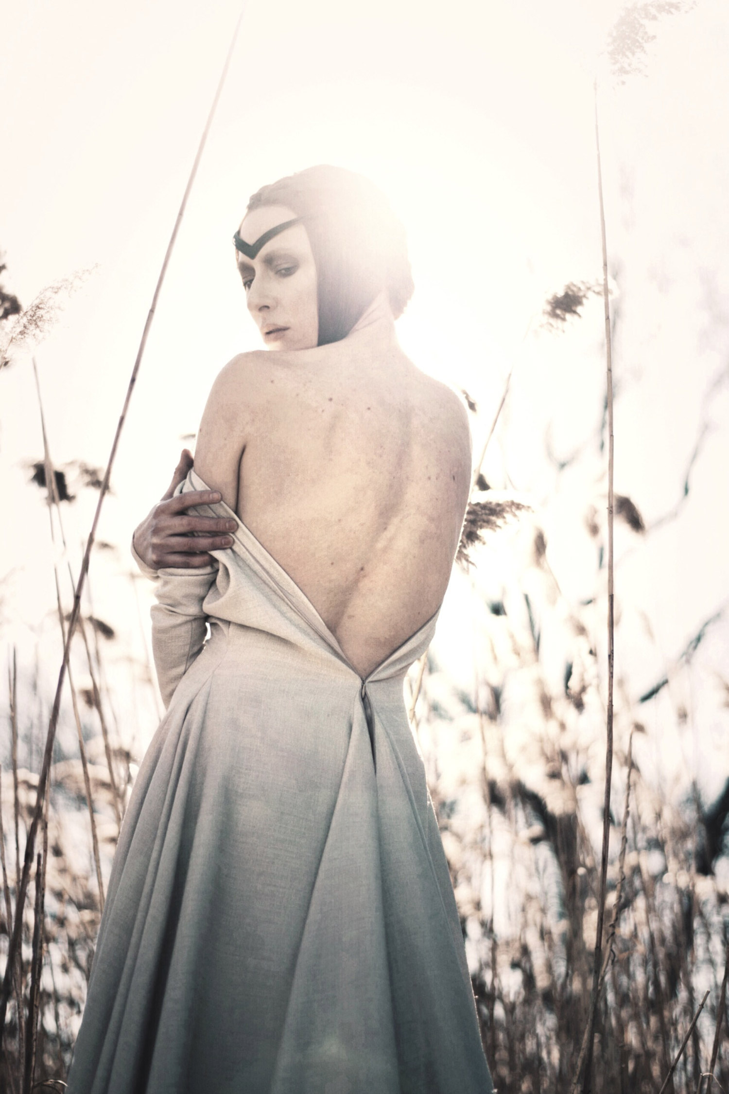 Hogan Mclaughlin - Upon the Heath of Bedlam, photographer Bill Crisafi, white dress with open back