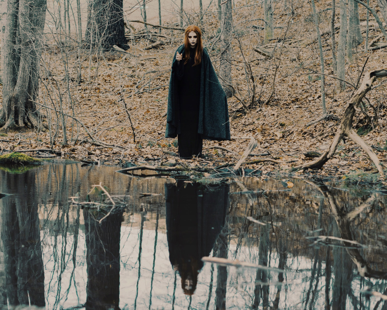 Hogan Mclaughlin - Upon the Heath of Bedlam, photographer Bill Crisafi, woman standing near water