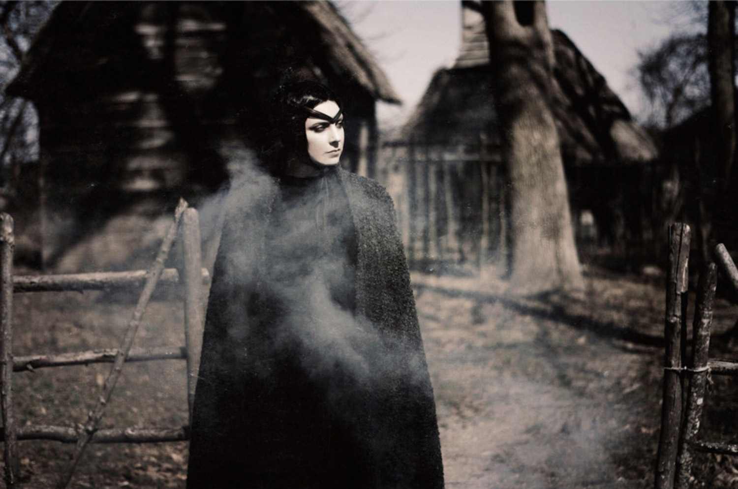 Hogan Mclaughlin - Upon the Heath of Bedlam, photographer Bill Crisafi, single witch-like figure