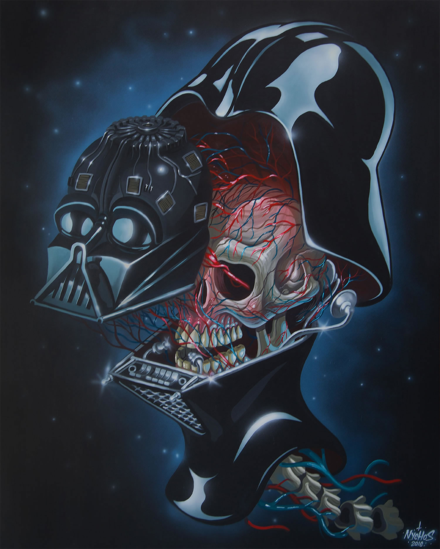 darth vader, dissected, painting