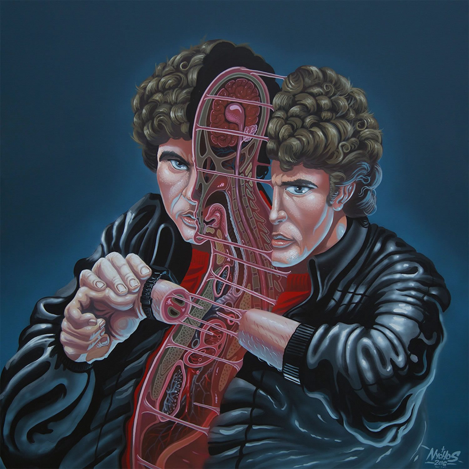 knight rider, dissected, painting