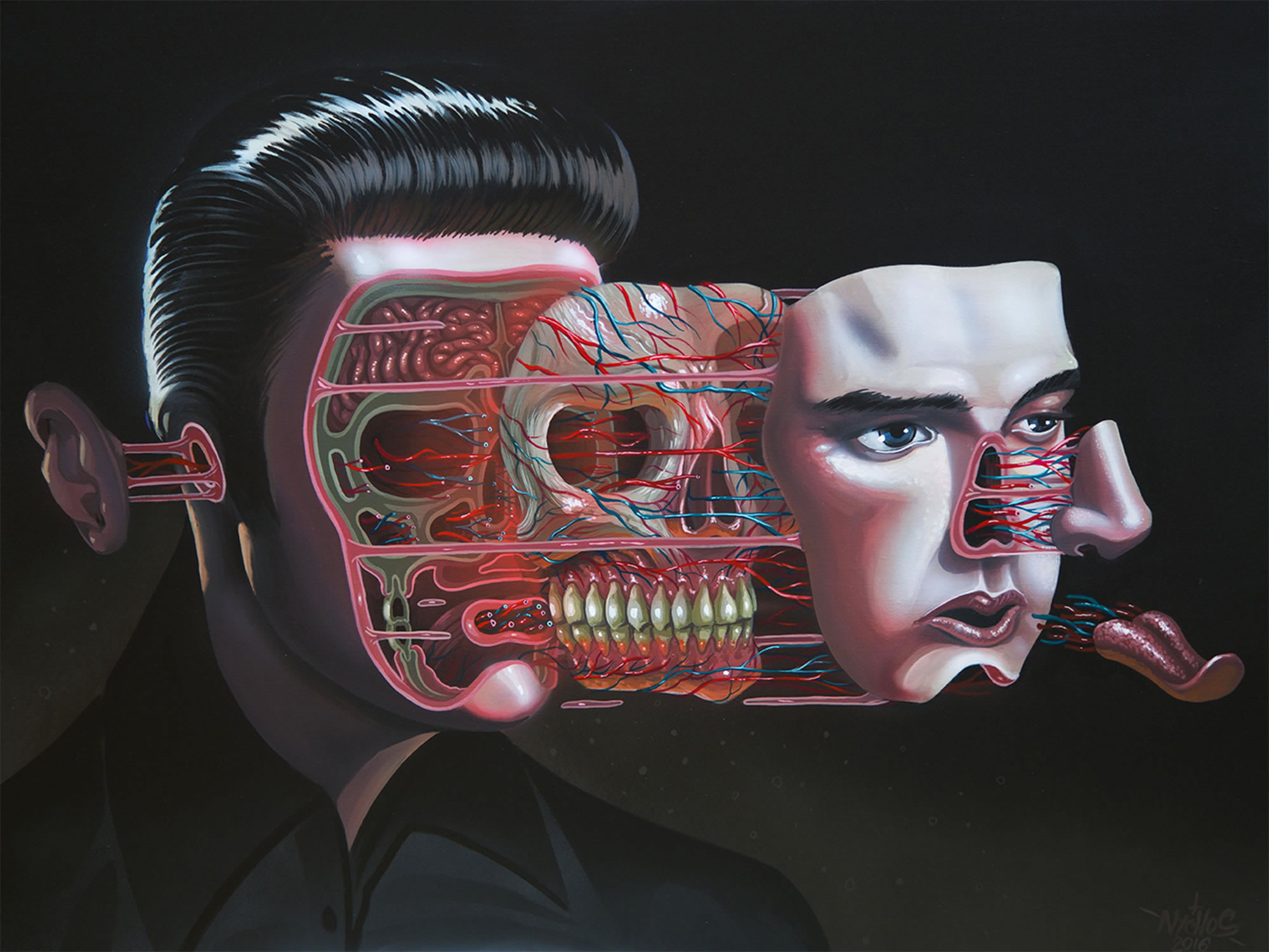 Elvis dissection, painting