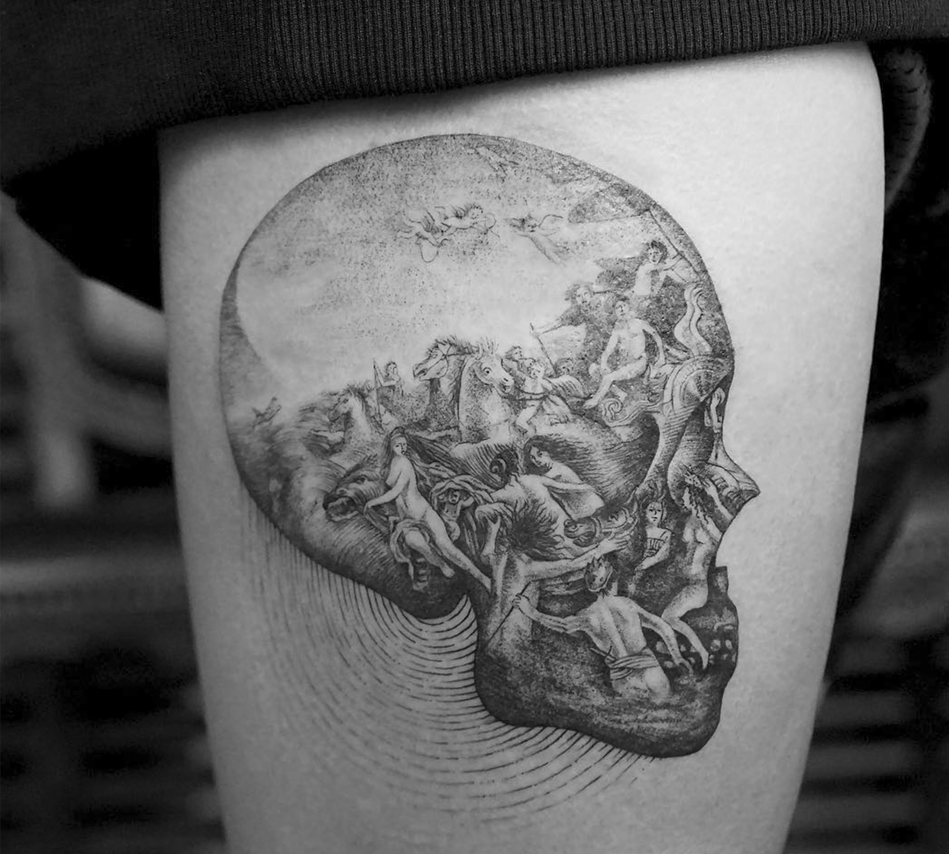 Tattoo Skull: what does such a tattoo mean 59