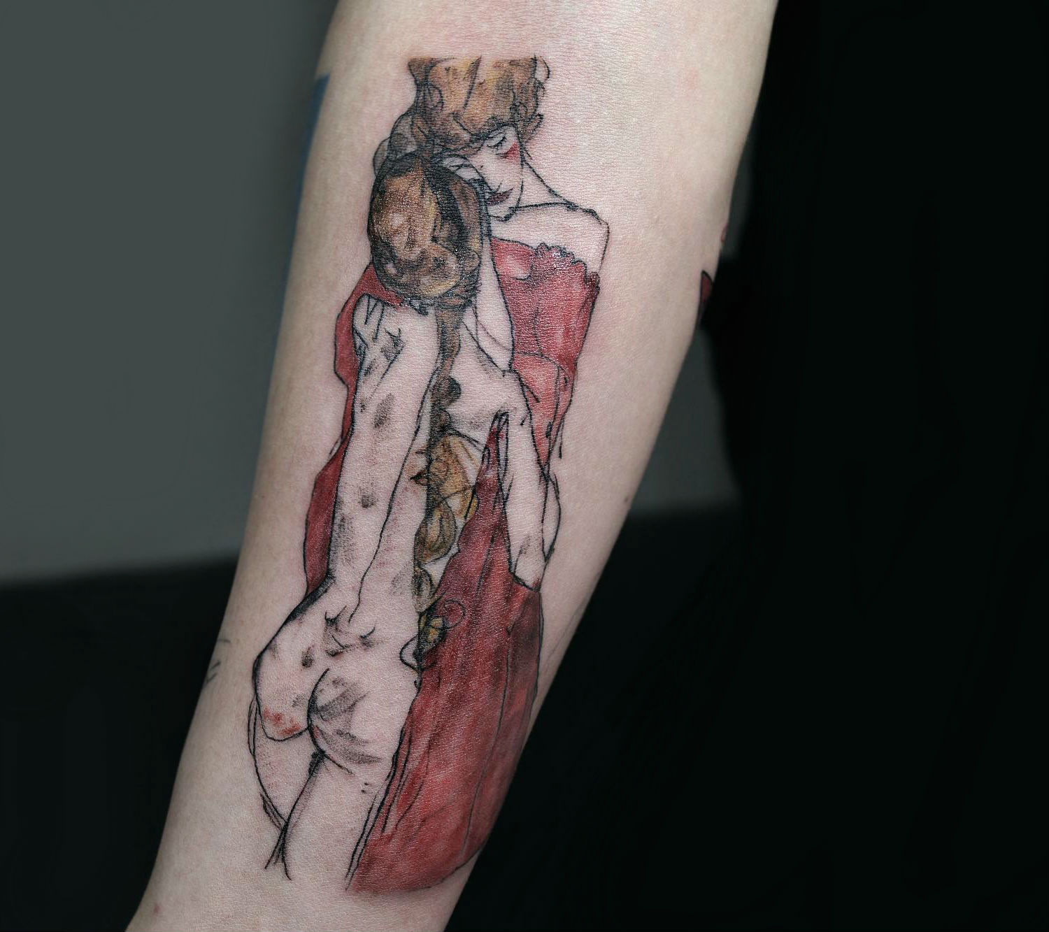 Eheon Egon Schiele tattoo