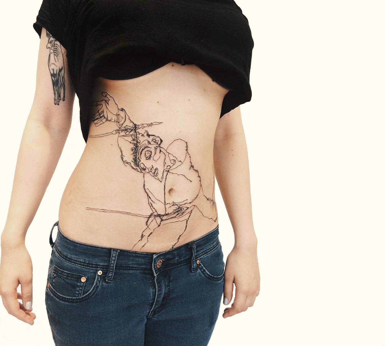 Zheremo St Sebastian Egon Schiele tattoo