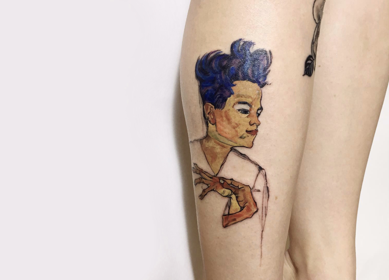 Rit Kit Tattoo Egon Schiele self portrait