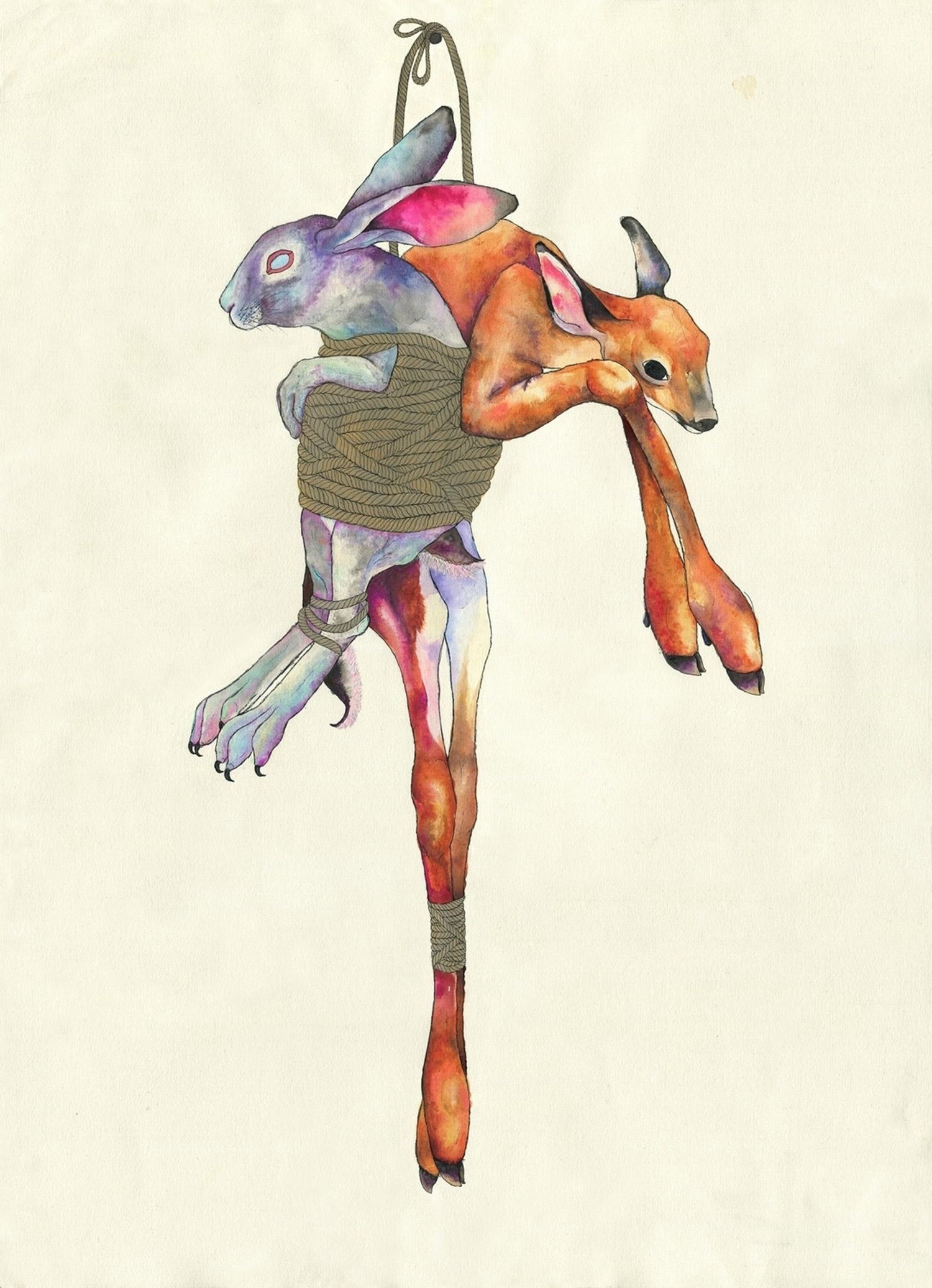 Hannah Ward - deer and rabbit