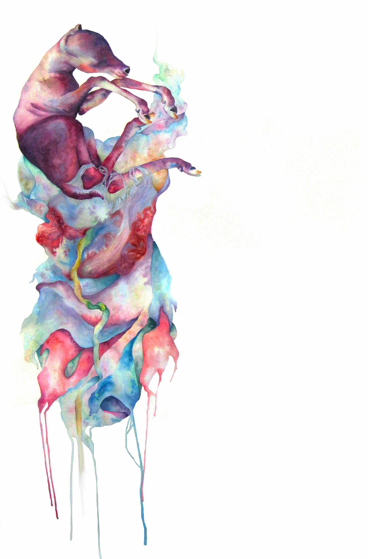 pure, watercolor painting by hannah ward
