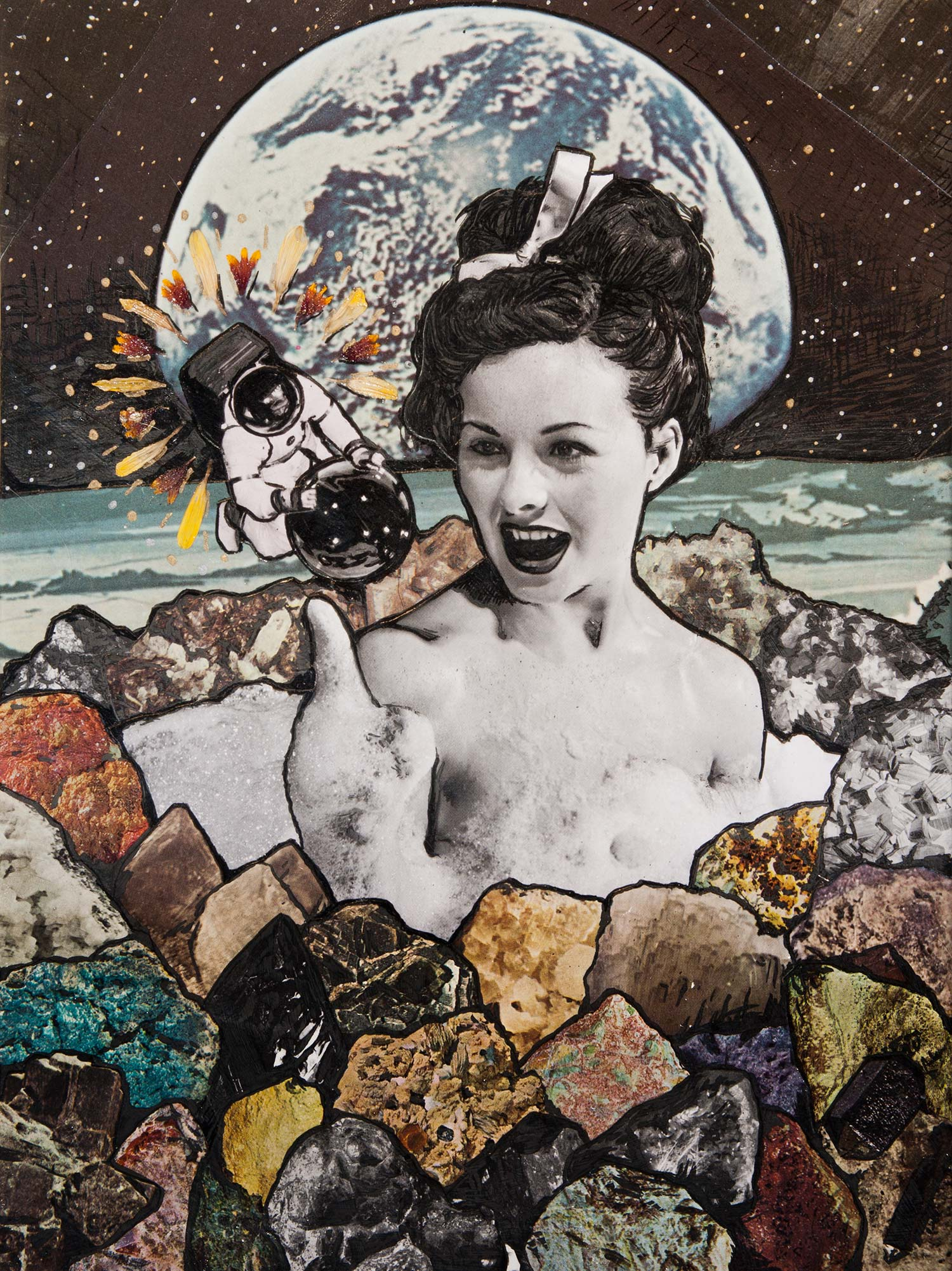 Jordan Westre collage - Space Babe