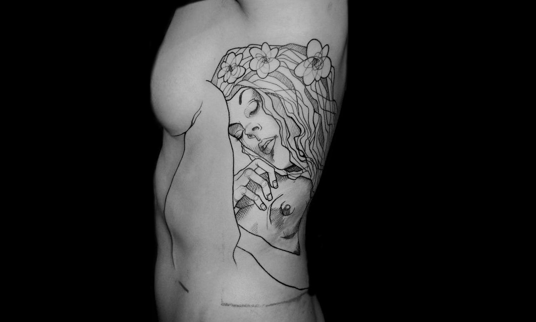 Gustav Klimt Danae tattoo by Lea Nahon