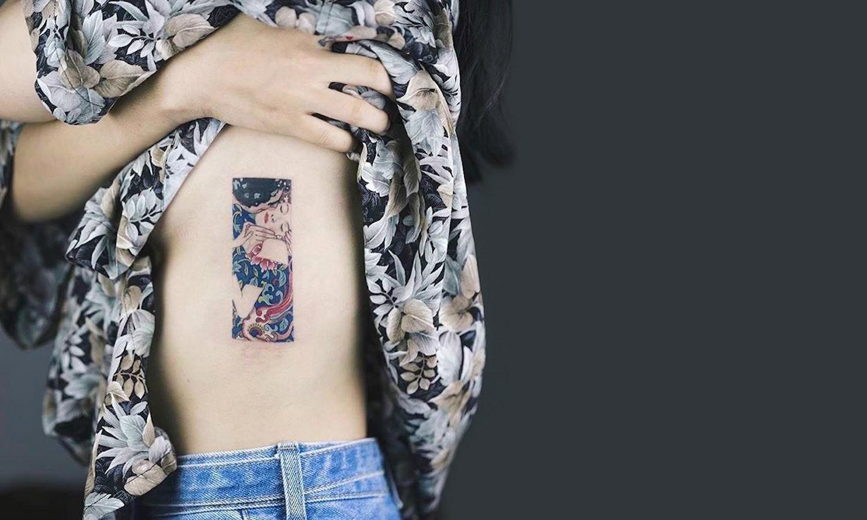 Gustav Klimt Kiss tattoo by Sol