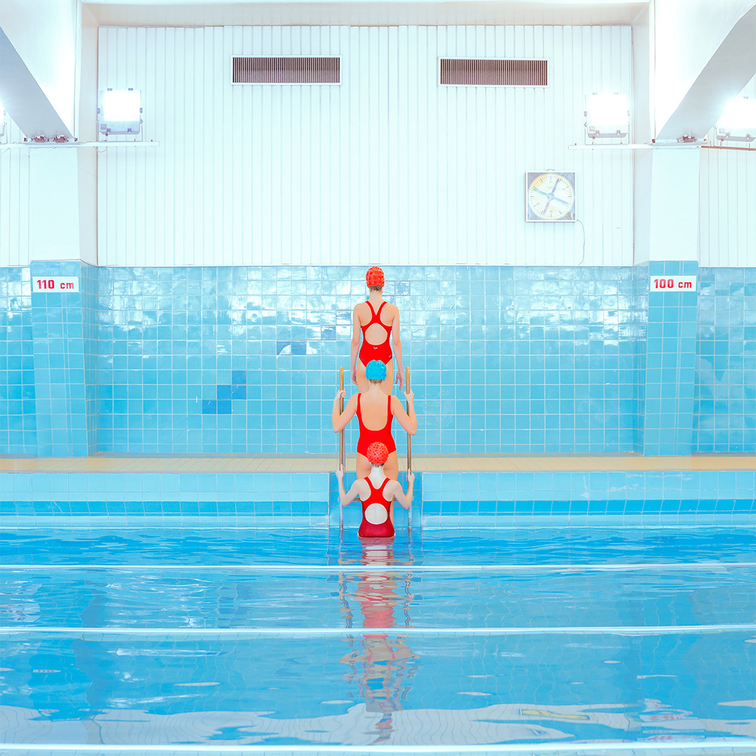 Maria Svarbova - Swimming Trinity, stacked bodies