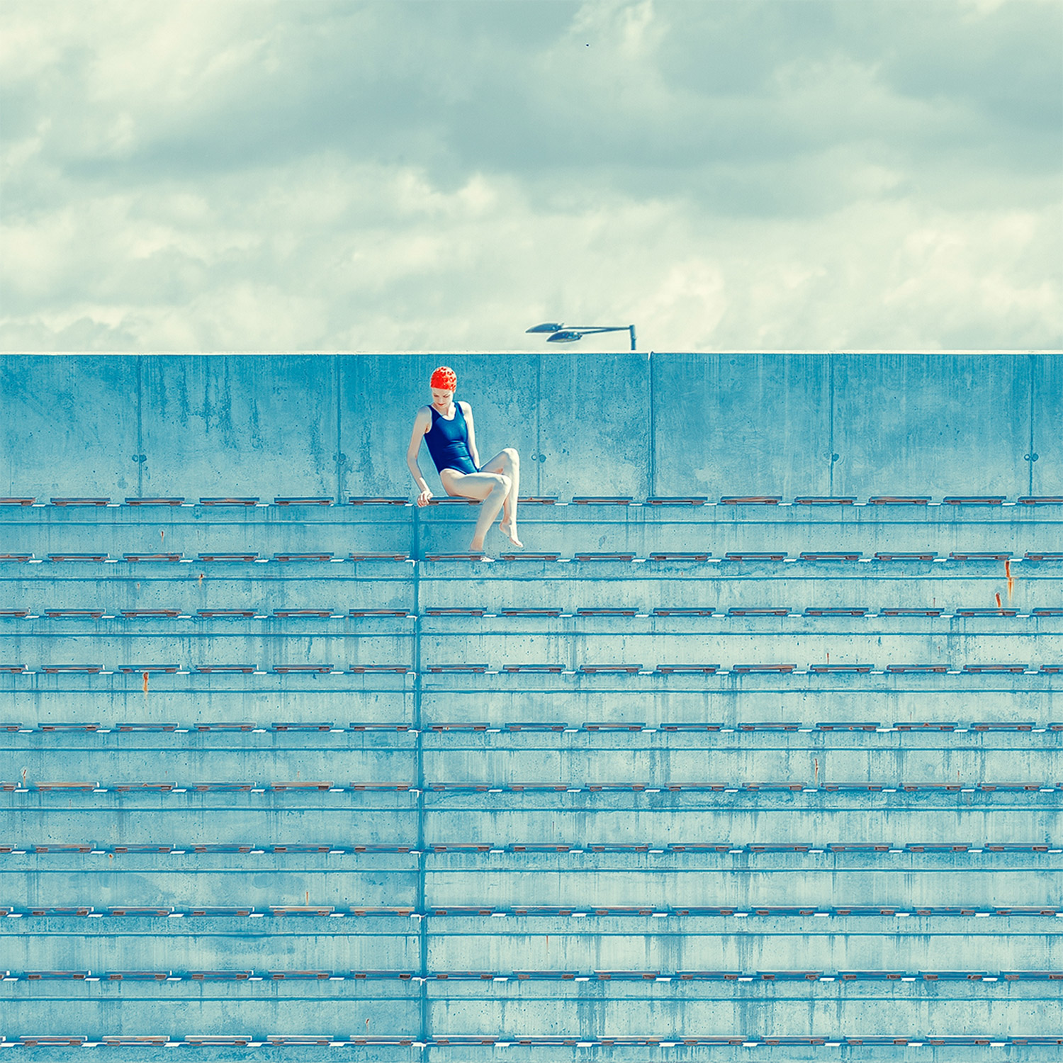 Maria Svarbova - The Tribune, on bleachers