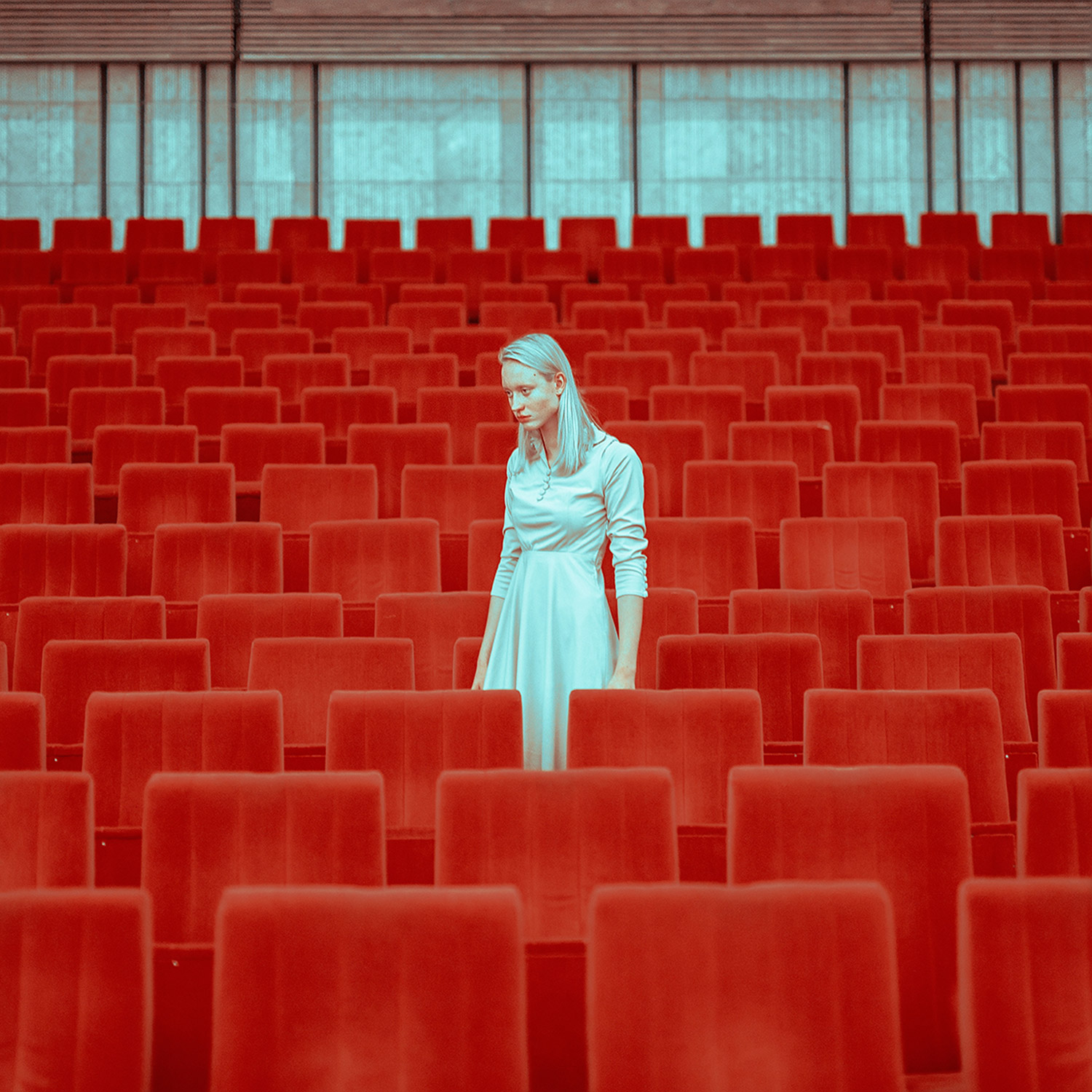 Maria Svarbova - Human Space, model with red chairs