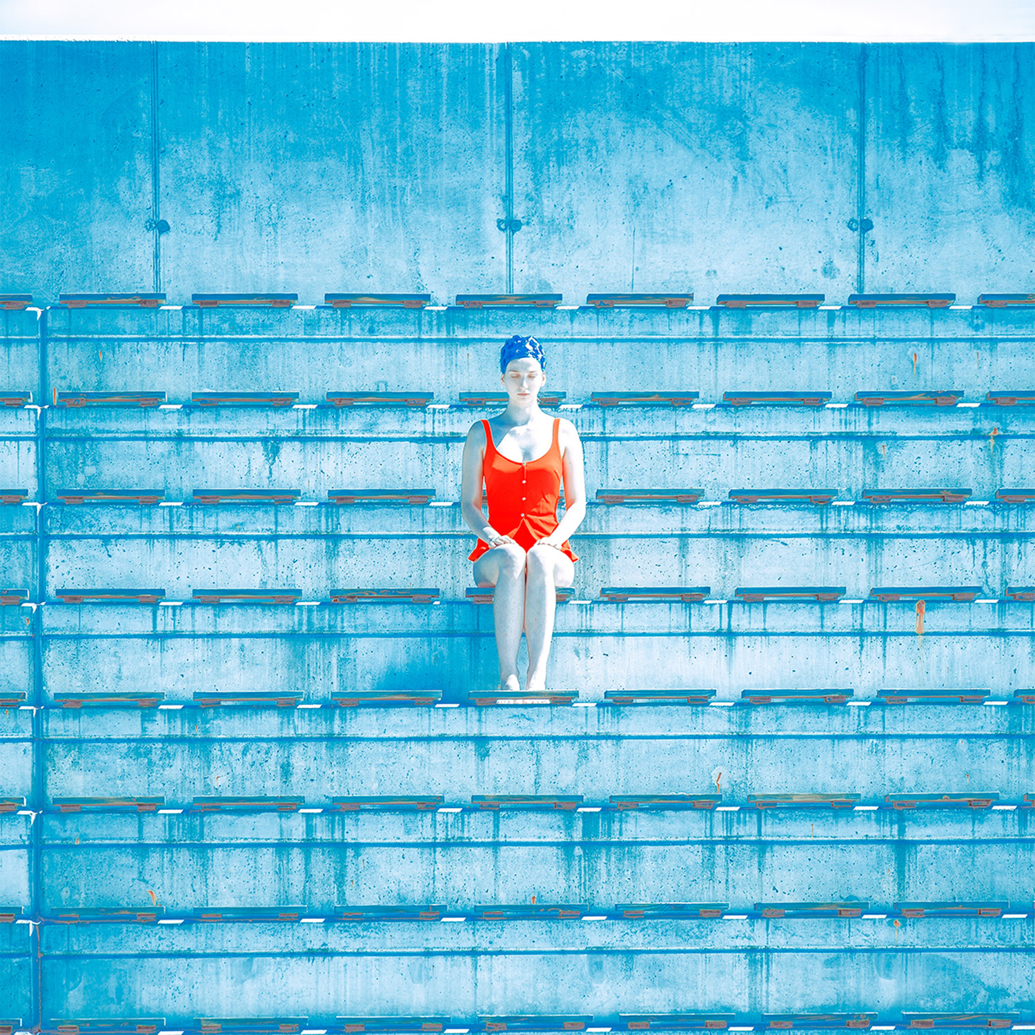 Maria Svarbova - The Tribune, sitting in middle of bleachers