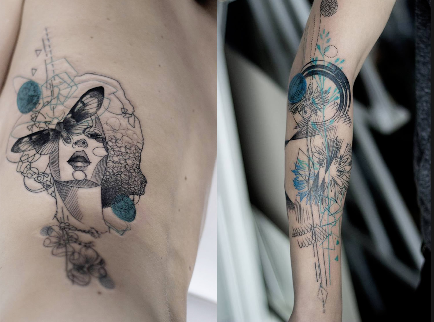portrait and nature tattoos