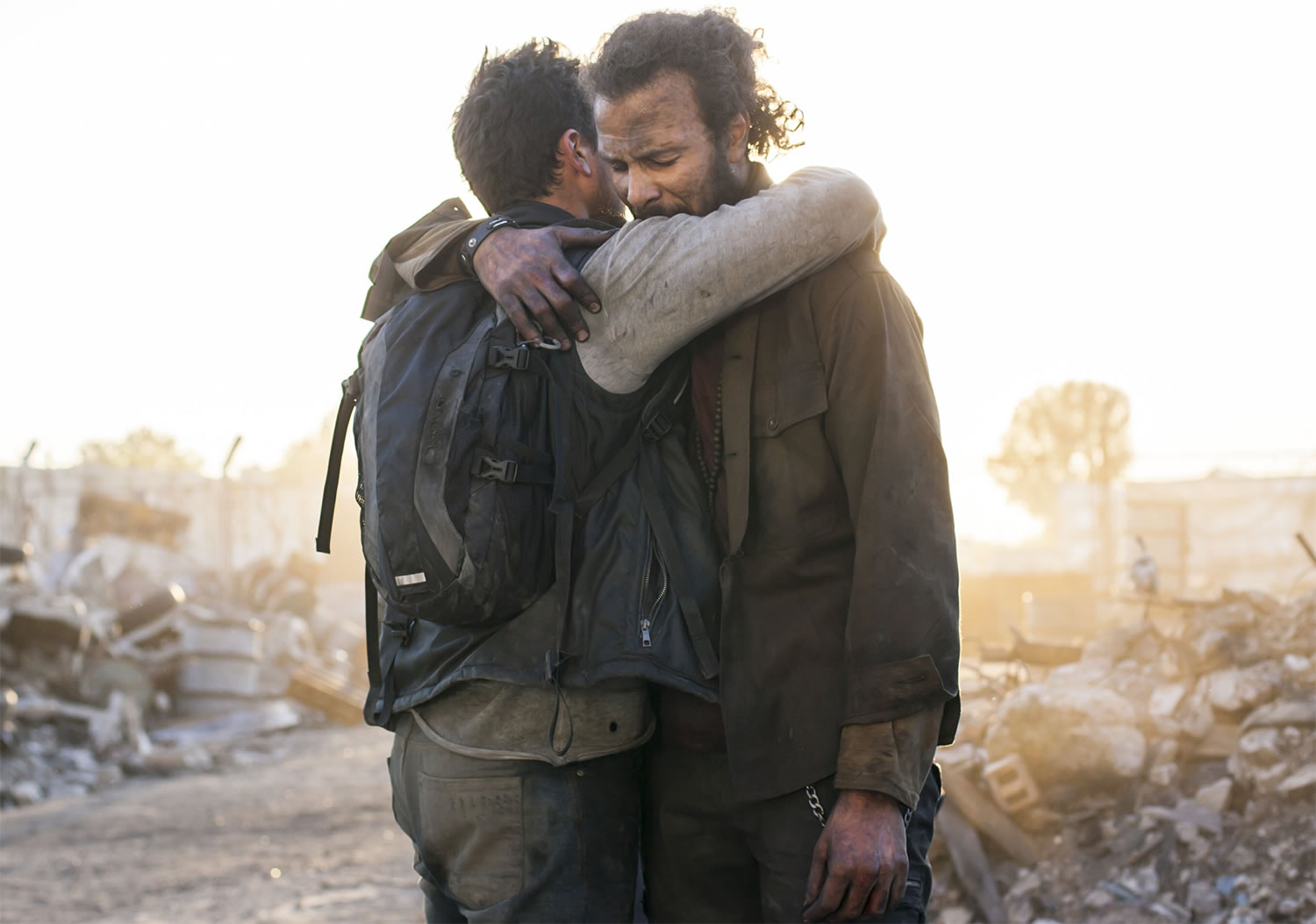 Post-Apocalyptic Movies - The Worthy, Ali F. Mostafa, characters embrace