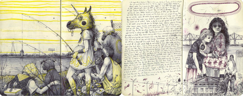 sketchbook spreads by pat perry
