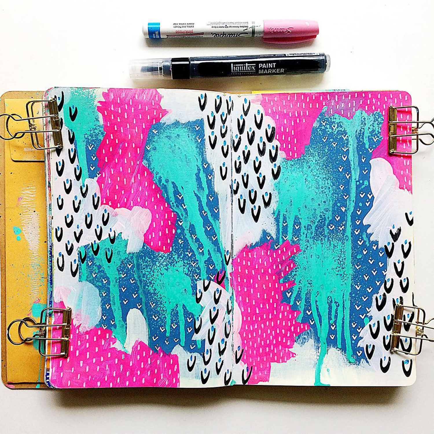 colorful sketchbook art by Samantha Russo